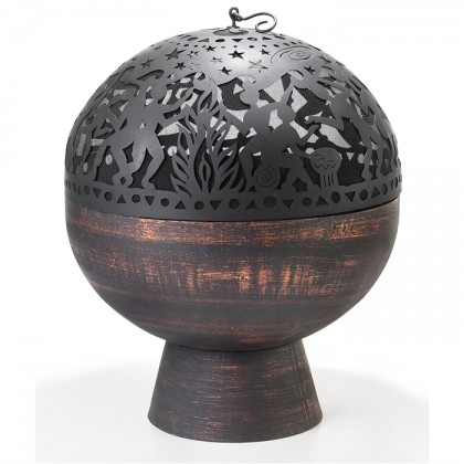 Oversized Fire Bowl with Full Moon Party FireDome