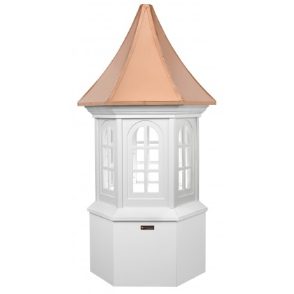 """Good Directions Smithsonian Georgetown Vinyl Cupola with Copper Roof 60"""" x 139"""""""