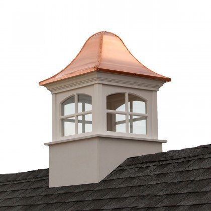 """Good Directions Greenwich Vinyl Cupola with Copper Roof 42"""" x 65"""""""