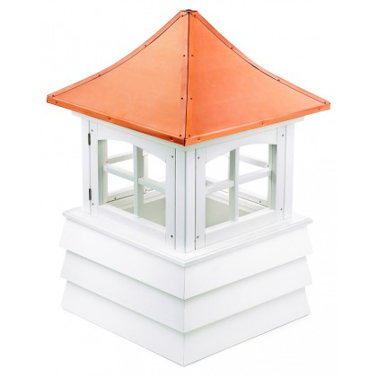 """Good Directions Guilford Vinyl Shiplap Cupola with Copper Roof 84"""" x 129"""""""