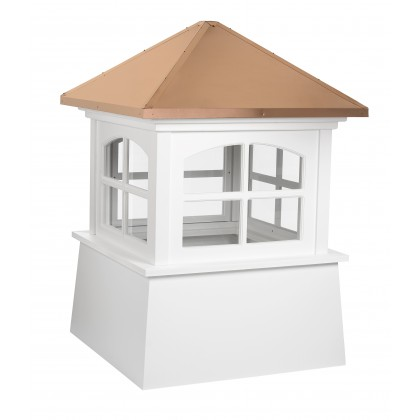 """Good Directions Huntington Vinyl Cupola with Copper Roof 72"""" x 101"""""""