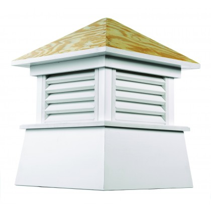 """Good Directions Kent Vinyl Cupola with Wood Roof 22"""" x 27"""""""