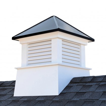 """Good Directions Manchester Vinyl Cupola with Black Aluminum Roof 22"""" x 27"""""""