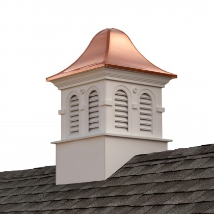 """Good Directions Smithsonian Montgomery Vinyl Cupola with Copper Roof 60"""" x 98"""""""