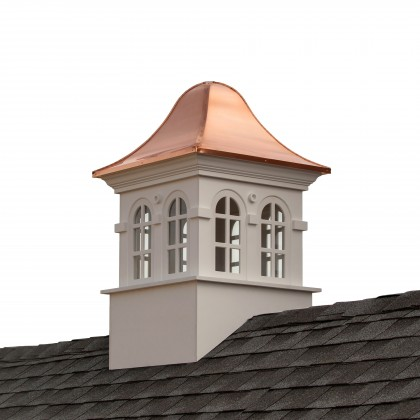 """Good Directions Smithsonian Rockville Vinyl Cupola with Copper Roof 42"""" x 66"""""""