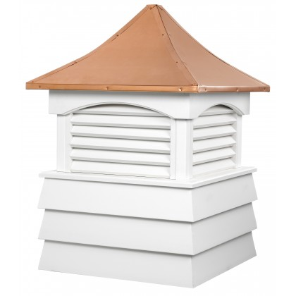 """Good Directions Sherwood Vinyl Shiplap Cupola with Copper Roof 22"""" x 30"""""""