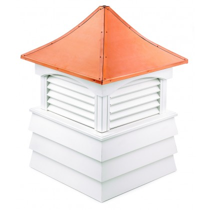 """Good Directions Sherwood Vinyl Shiplap Cupola with Copper Roof 84"""" x 107"""""""