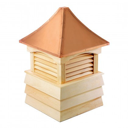 """Good Directions Sherwood Wood Shiplap Cupola with Copper Roof 60"""" x 92"""""""