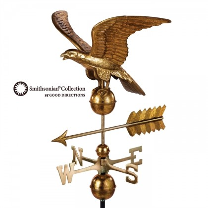 Smithsonian Eagle Weathervane with Golden Leaf Finish