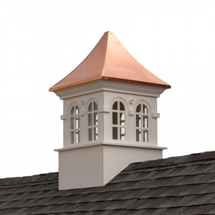 """Good Directions Smithsonian Stafford Vinyl Cupola with Copper Roof 30"""" x 51"""""""