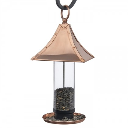 Palazzo Bird Feeder - Polished Copper
