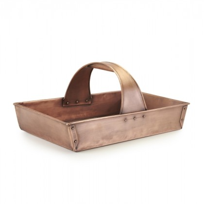 Large Pure Copper Garden Trug Basket