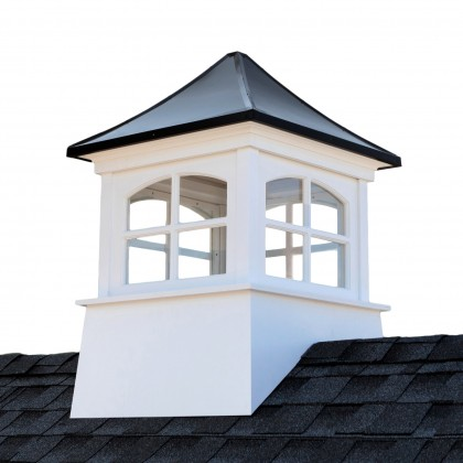 """Good Directions Windsor Vinyl Cupola with Black Aluminum Roof 26"""" x 38"""""""