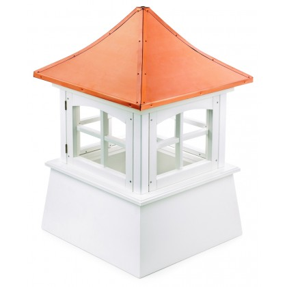 """Windsor Vinyl Cupola with Copper Roof 22"""" x 32"""""""