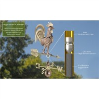 Proud Rooster Weathervane with Brass Accents