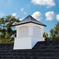 Coventry Vinyl Cupola with Black Aluminum Roof