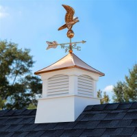 "26"" Square Coventry Vinyl Cupola with Eagle Weathervane"