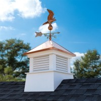 "30"" Square Manchester Vinyl Cupola with Eagle Weathervane"