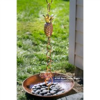 Pineapple Pure Copper 8.5 ft. Rain Chain
