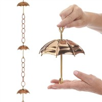 Umbrella Pure Copper 8.5 ft. Rain Chain