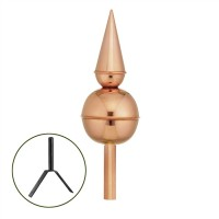 Avalon Polished Copper Rooftop Finial