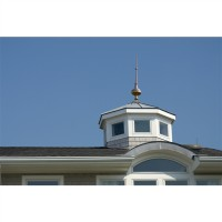 "28"" Morgana Polished Copper Rooftop Finial"