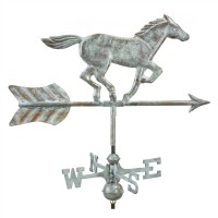 Horse Garden Weathervane with Garden Pole