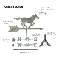 Horse Cottage Weathervane with Roof Mount