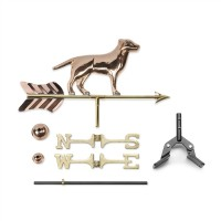 Labrador Retriever Garden Weathervane with Garden Pole