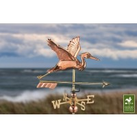 Blue Heron with Arrow Cottage Weathervane with Roof Mount