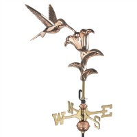 Hummingbird Garden Weathervane with Garden Pole