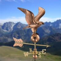 Eagle Garden Weathervane with Garden Pole