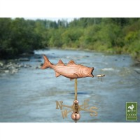 Bass with Lure Garden Weathervane with Garden Pole