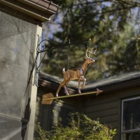 Hanging White Tail Buck Pure Copper Weathervane Sign