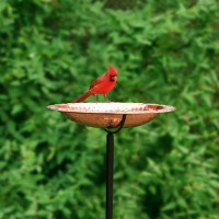 Bird Bath on Garden Pole - Copper
