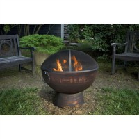 Oversized Fire Bowl with Spark Screen