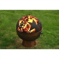 Oversized Fire Bowl with Orion FireDome