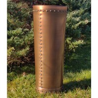 Tall Riveted Copper Planter